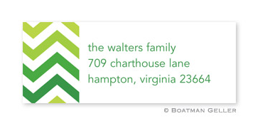 Chevron Ombre Green Address Label