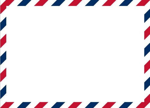 Via Red and Blue Flat Notecard