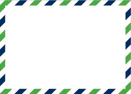 Via Green and Blue Flat Notecard