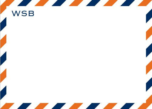 Via Blue and Orange Flat Notecard