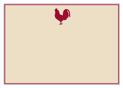 Rooster Flat Notecard