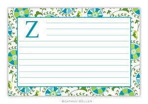 Suzani Teal Recipe Card
