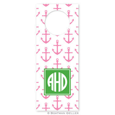 Anchors Pink Wine Tags