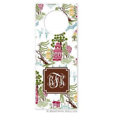 Chinoiserie Autumn Wine Tags