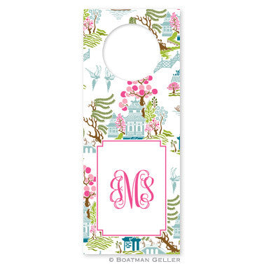 Chinoiserie Spring Wine Tags