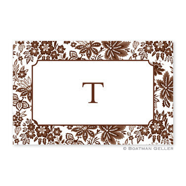 Classic Floral Brown Placemat