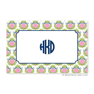 Pineapple Repeat Pink Placemat