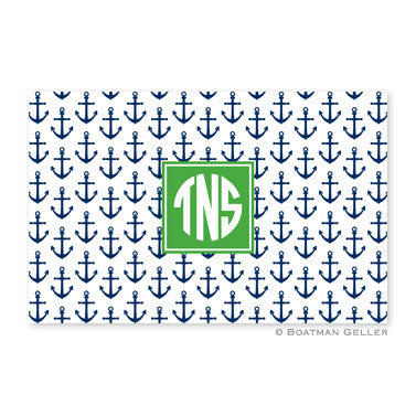 Anchors Navy Placemat