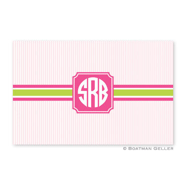 Seersucker Band Pink & Green Placemat