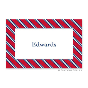 Repp Tie Red & Navy Placemat