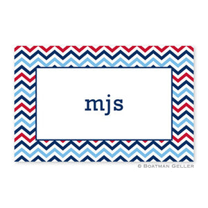 Chevron Blue & Red Placemat