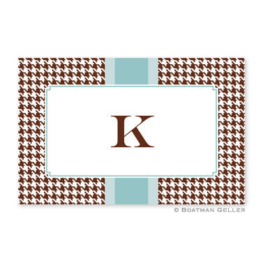 Alex Houndstooth Chocolate Placemat