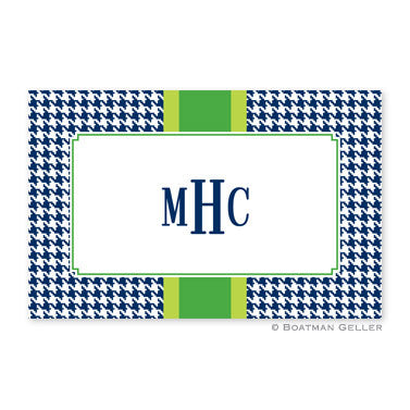 Alex Houndstooth Navy Placemat