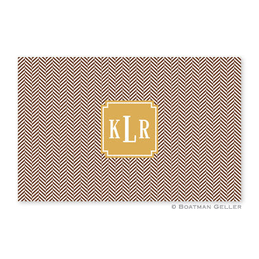 Herringbone Chocolate Placemat