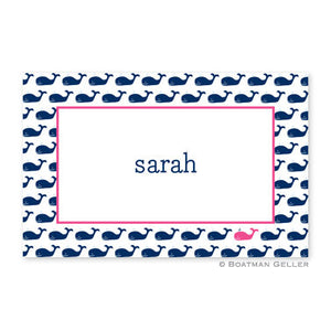 Whale Repeat Navy Placemat