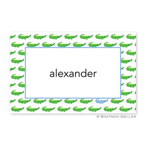Alligator Repeat Blue Placemat