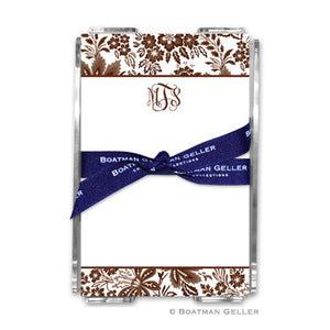 Classic Floral Brown Notepad