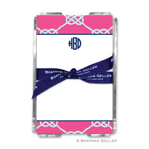 Nautical Knot Raspberry Notepad