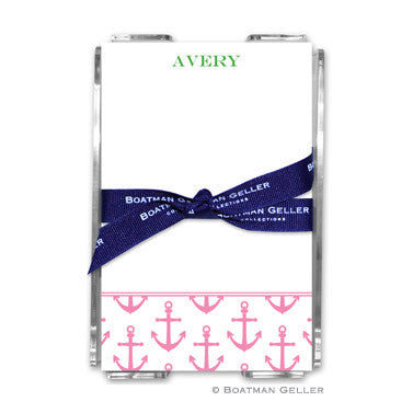 Anchors Pink Notepad