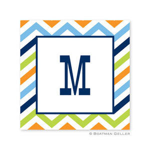 Chevron Blue, Orange, & Lime Stickers