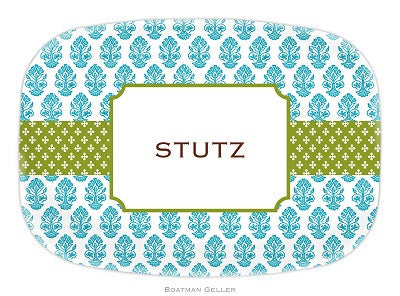 Betti Teal Melamine Platter