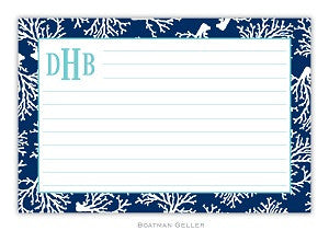 Coral Repeat Navy Recipe Card