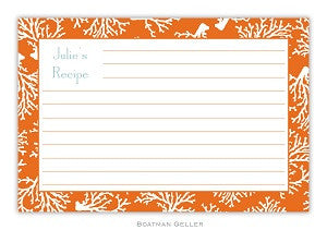 Coral Repeat Recipe Card