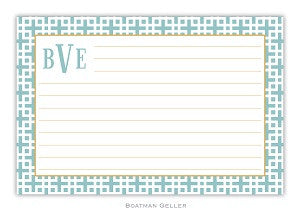 Lattice Slate Recipe Card