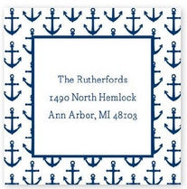 Anchors Navy Stickers