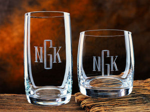 Monogrammed Meridian Beverage Glass