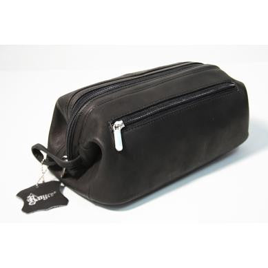 Monogrammed Leather Colombian Leather Toiletry Bag
