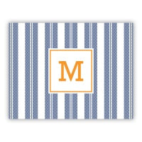 Vineyard Stripe Navy Folded Note