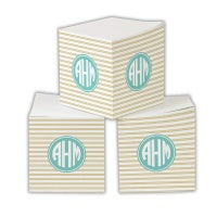 Rope Stripe Sticky Memo Cube  (2 Sizes)