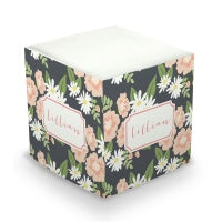 Lillian Floral Sticky Memo Cube  (2 Sizes)
