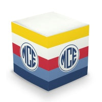 Bold Stripe Sticky Memo Cube (2 Sizes)