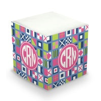 Nautical Flags Sticky Memo Cube (2 Sizes)