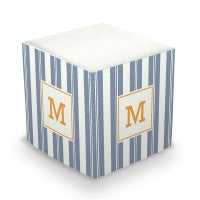 Vineyard Stripe Sticky Memo Cube  (2 Sizes)