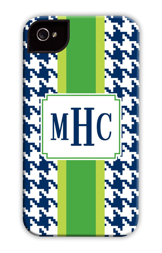 Hounds-tooth Green Stripe Phone Case