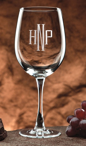 Monogrammed Colossal Wine Glass