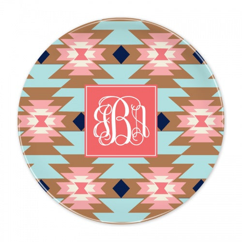 Bloom Blush Melamine Plate by Clairebella