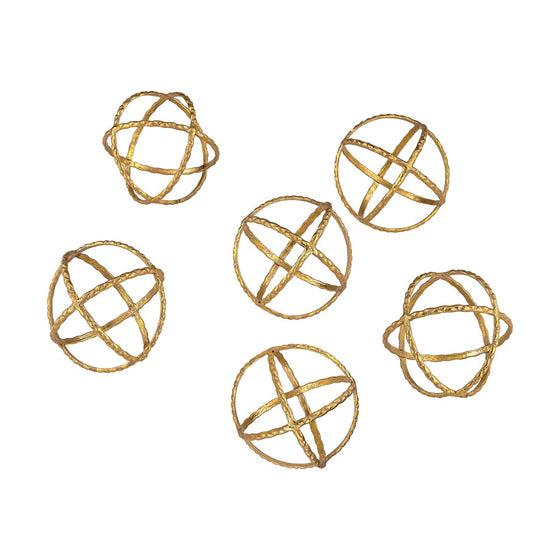 GOLD ORBS (Set of 6)