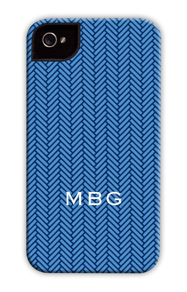 Herringbone Cobalt Phone Case