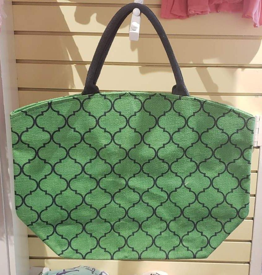 Lattice Jute Tote 2863