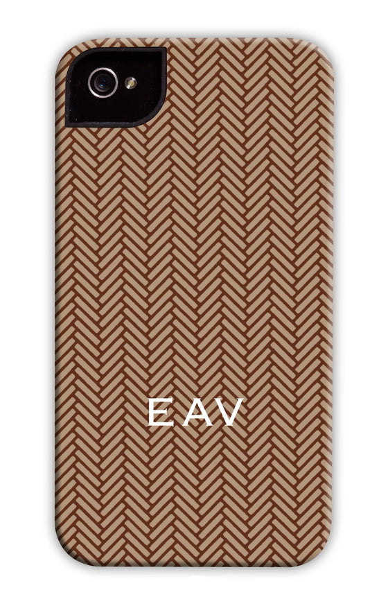 Herringbone Milk Chocolate Phone Case