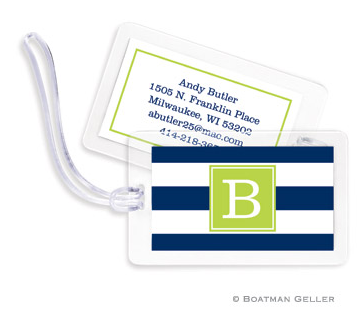 Awning Stripe Bag Tags Set