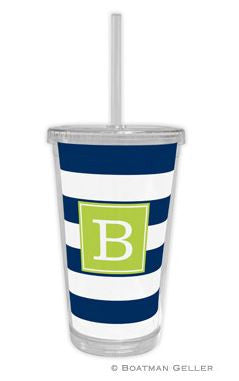 Awning Stripe Beverage Tumbler