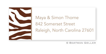 Zebra Address Label