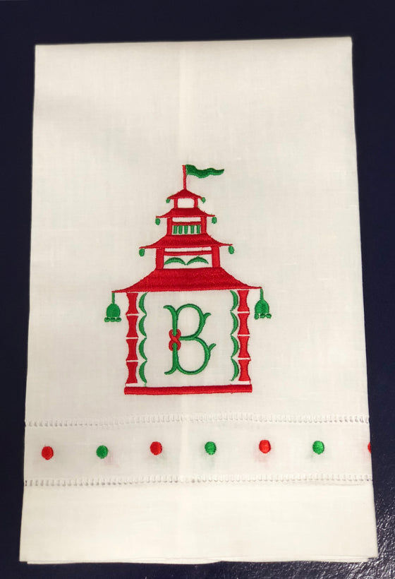 Chinoiserie Christmas Linens