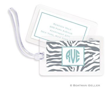 Zebra Bag Tags Set