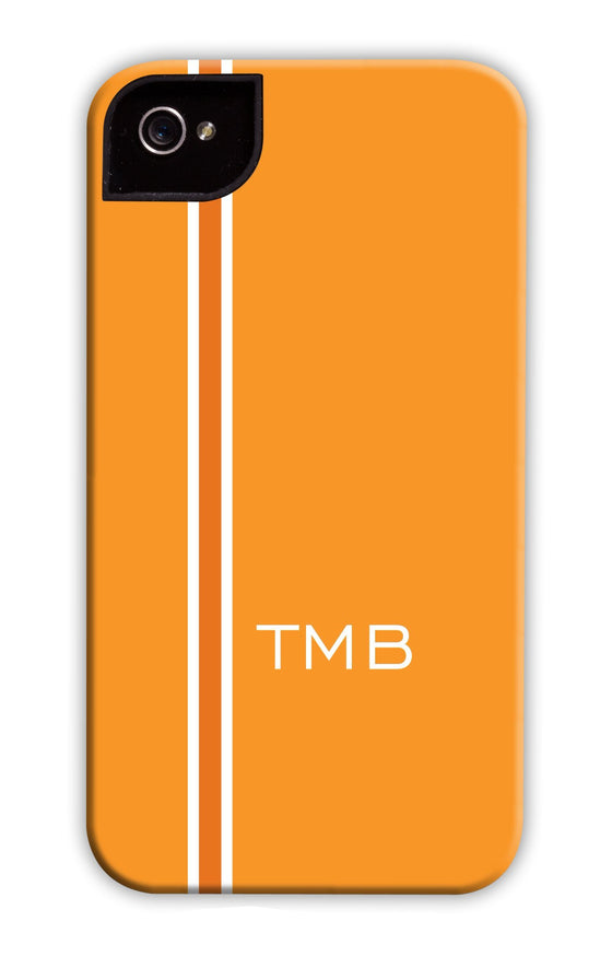 Vertical Stripe Gold & Orange Phone Case